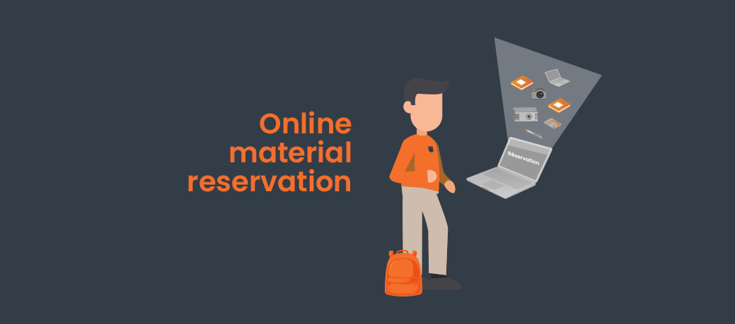 Online materiel reservation and loans