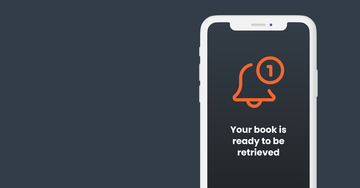 Pick-up notification to retrieve books in library