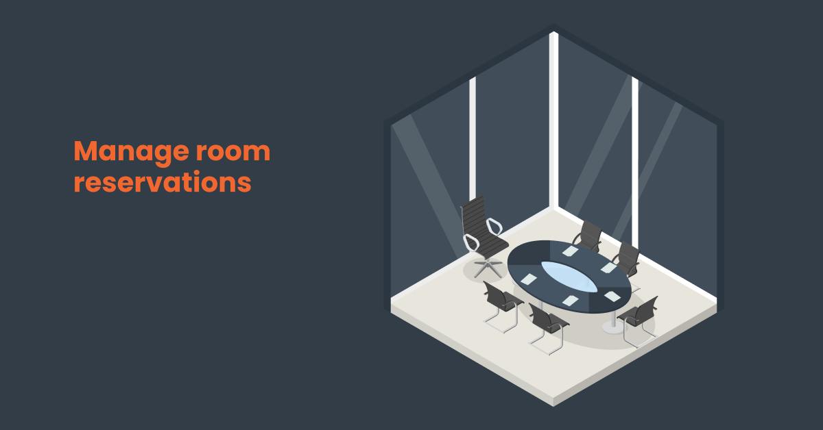 teamwork workspace for employees available for reservation